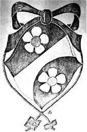 Misu Söderqvistin vaakuna, 1978. Kilven ympärillä on koulutusohjaajan KoGi-nappulat.